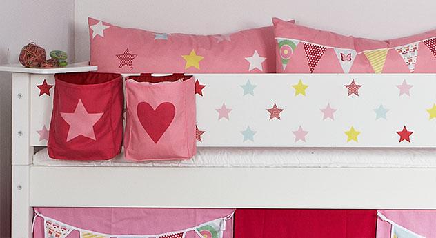 Mini-Hochbett Kids Town Sterne mit Absturzsicherung