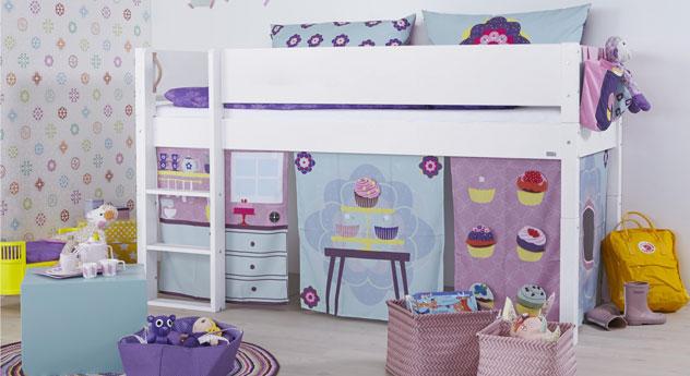 Mini-Hochbett Kids Town in weißem MDF