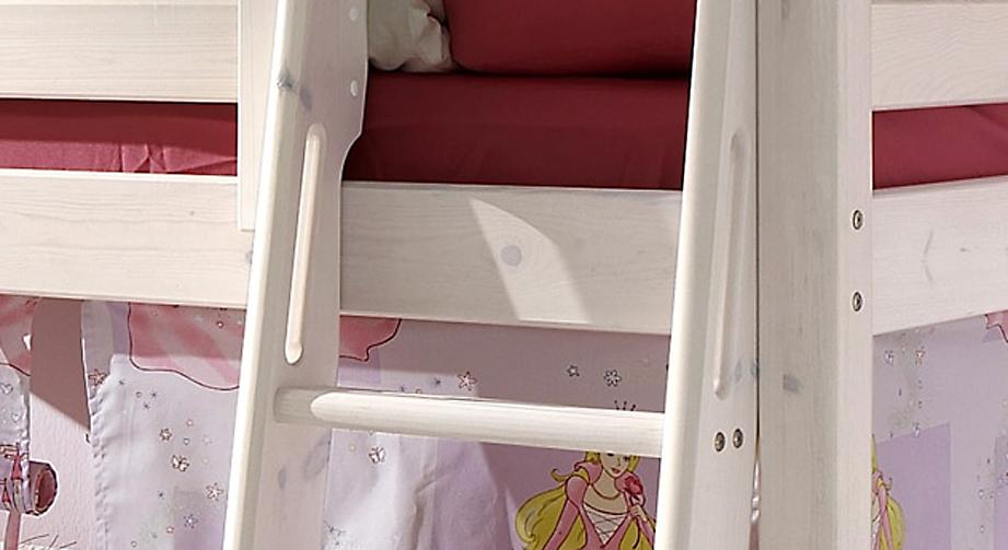 Mini Hochbett Prinzessin eingefraeste Haltegriffe