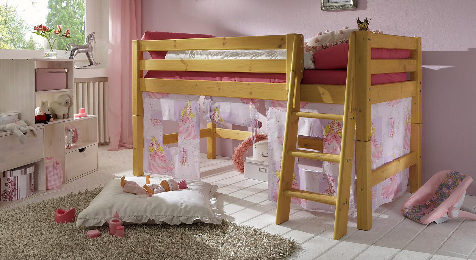 kinder hochbett prinzessin g nstig kaufen. Black Bedroom Furniture Sets. Home Design Ideas