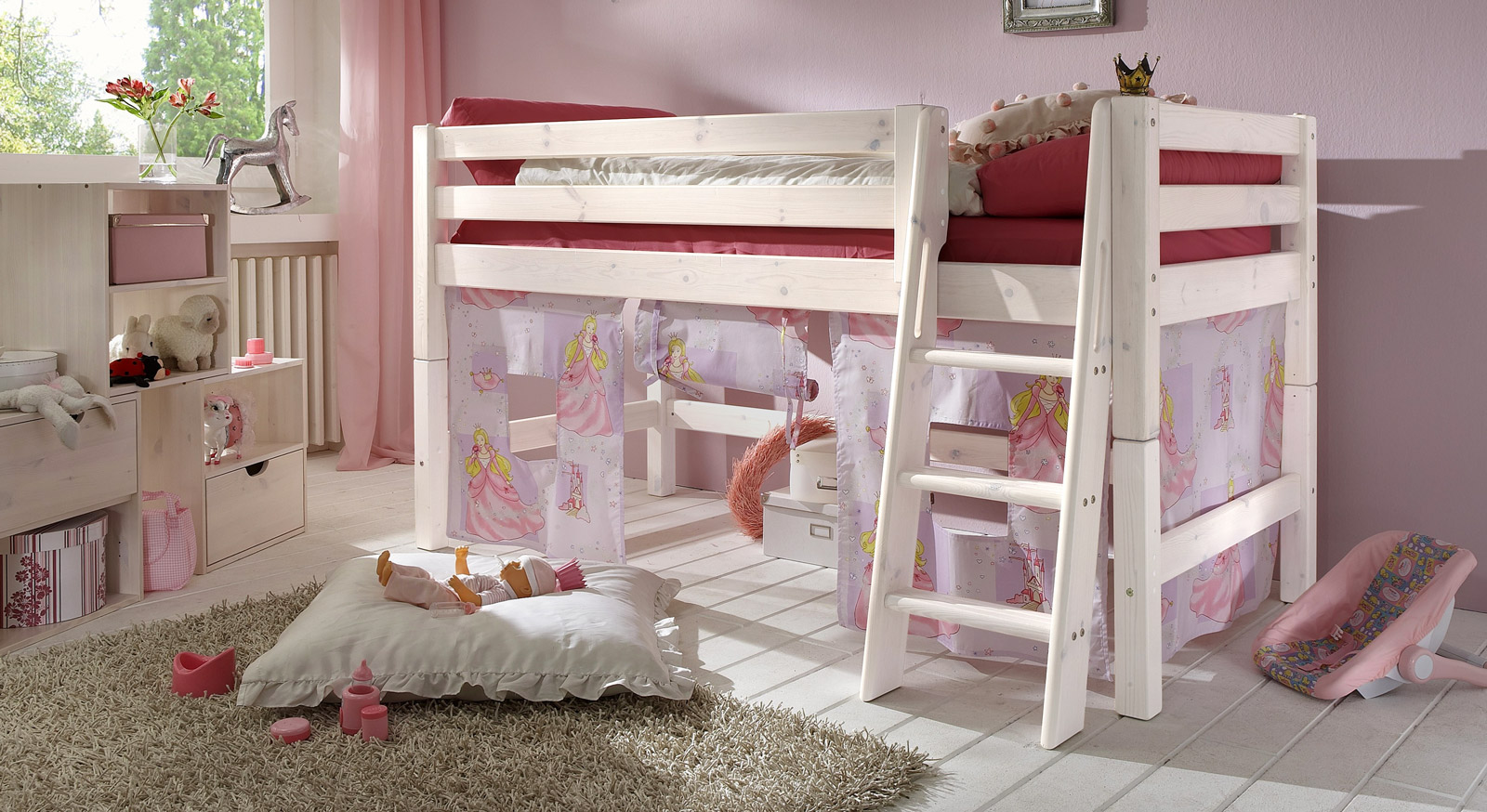 kinderzimmer komplett hochbett kinder prinzessin gunstig kaufen kinderzimmer mit hochbett. Black Bedroom Furniture Sets. Home Design Ideas