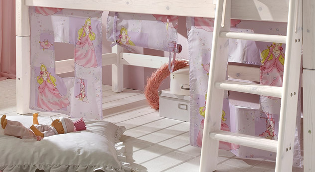 Mini Hochbett Prinzessin Spielevorhang