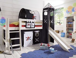 kinderhochbetten mit rutsche g nstig kaufen. Black Bedroom Furniture Sets. Home Design Ideas