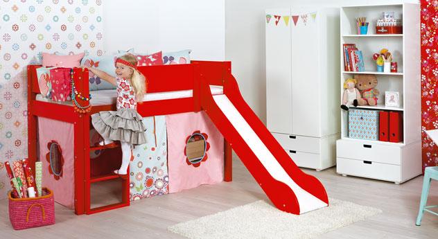Mini-Rutschen-Hochbett Kids Town für Kinder