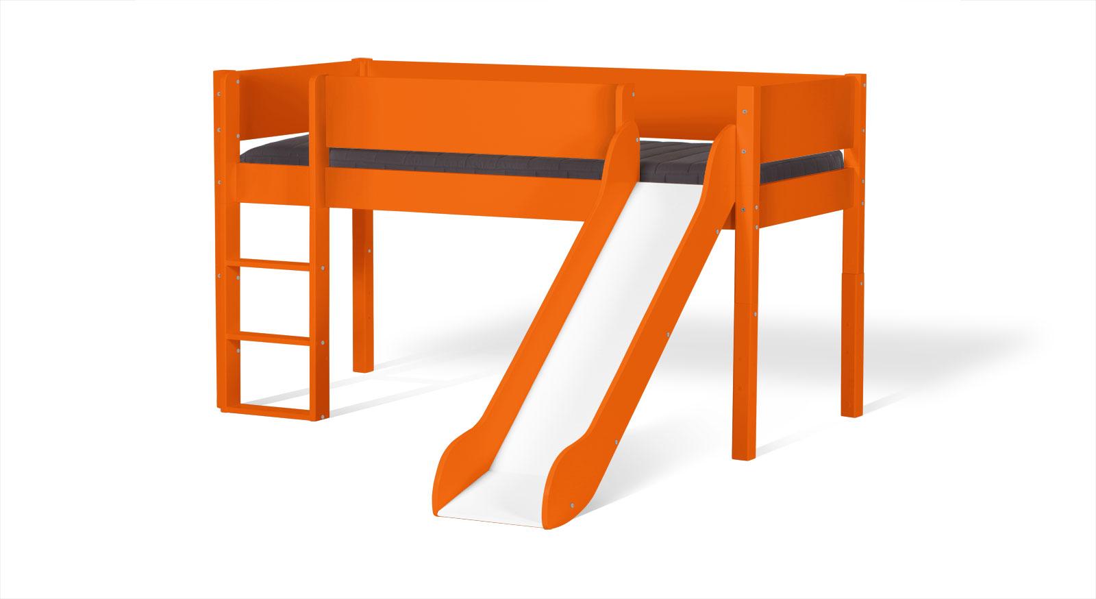 Mini-Rutschen-Hochbett Kids Town in Orange