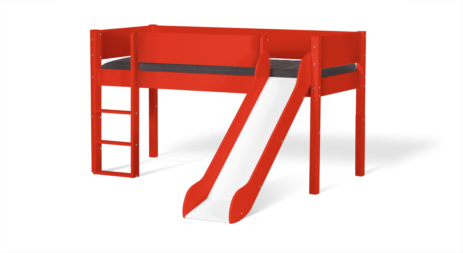 Rotes Mini-Rutschen-Hochbett Kids Town