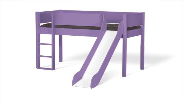 Mini-Rutschen-Hochbett Kids Town in Violett