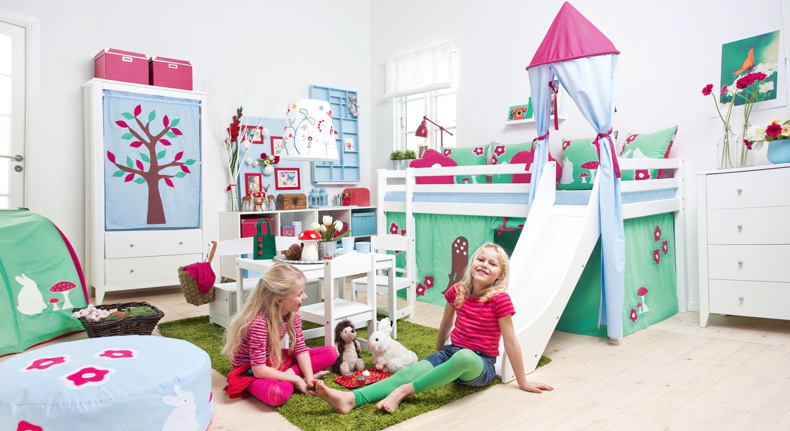 kinderhochbett mit rutsche. Black Bedroom Furniture Sets. Home Design Ideas
