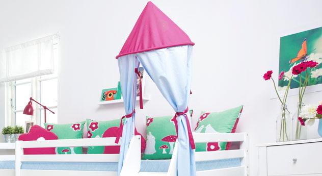Mini-Rutschen-Hochbett Rotkäppchen mit optionalem Turm