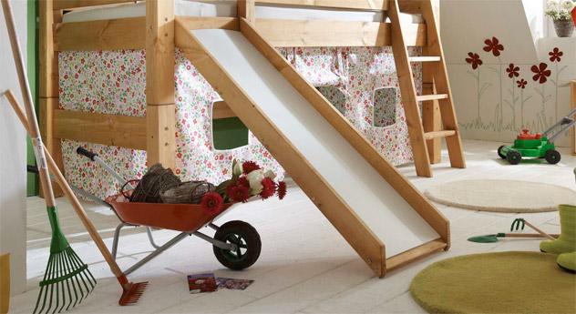 Mini Rutschen-Hochbett Kids Dreams mit Rutsche