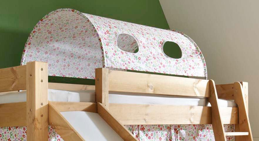 Mini Rutschen Hochbett Kids Dreams mit Textil-Tunnel