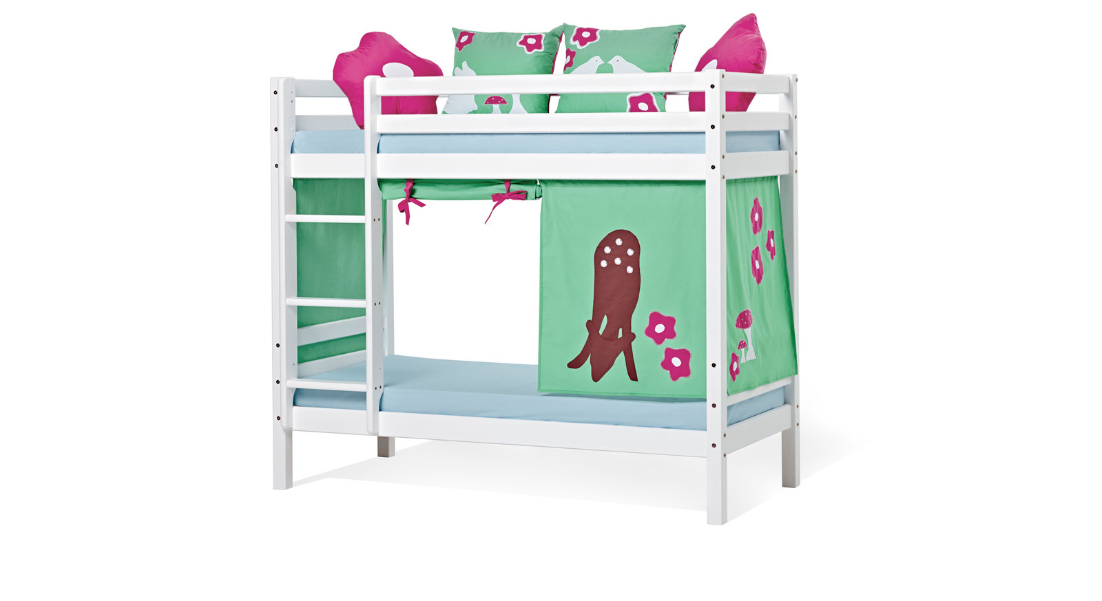 Modernes mittelhohes Etagenbett Kids Heaven mit gerader Leiter