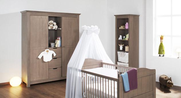 Kinder-Kleiderschrank Lina massiv