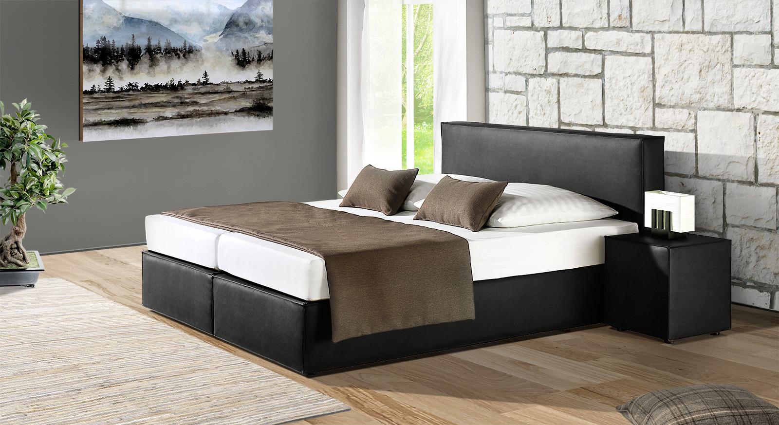 boxspringbett mit bonell federkernmatratze tolentino. Black Bedroom Furniture Sets. Home Design Ideas