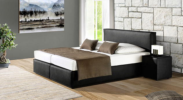 boxspringbett mit bonell federkernmatratze tolentino. Black Bedroom Furniture Sets. Home Design Ideas