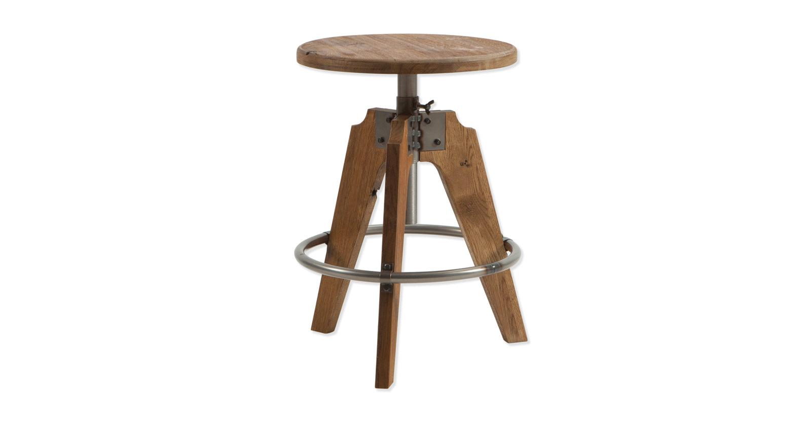 Nachttisch Aronia in Wildeiche natur mit Stahlring