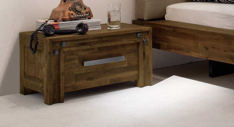 Nachttisch Caldera in braunem Akazienholz