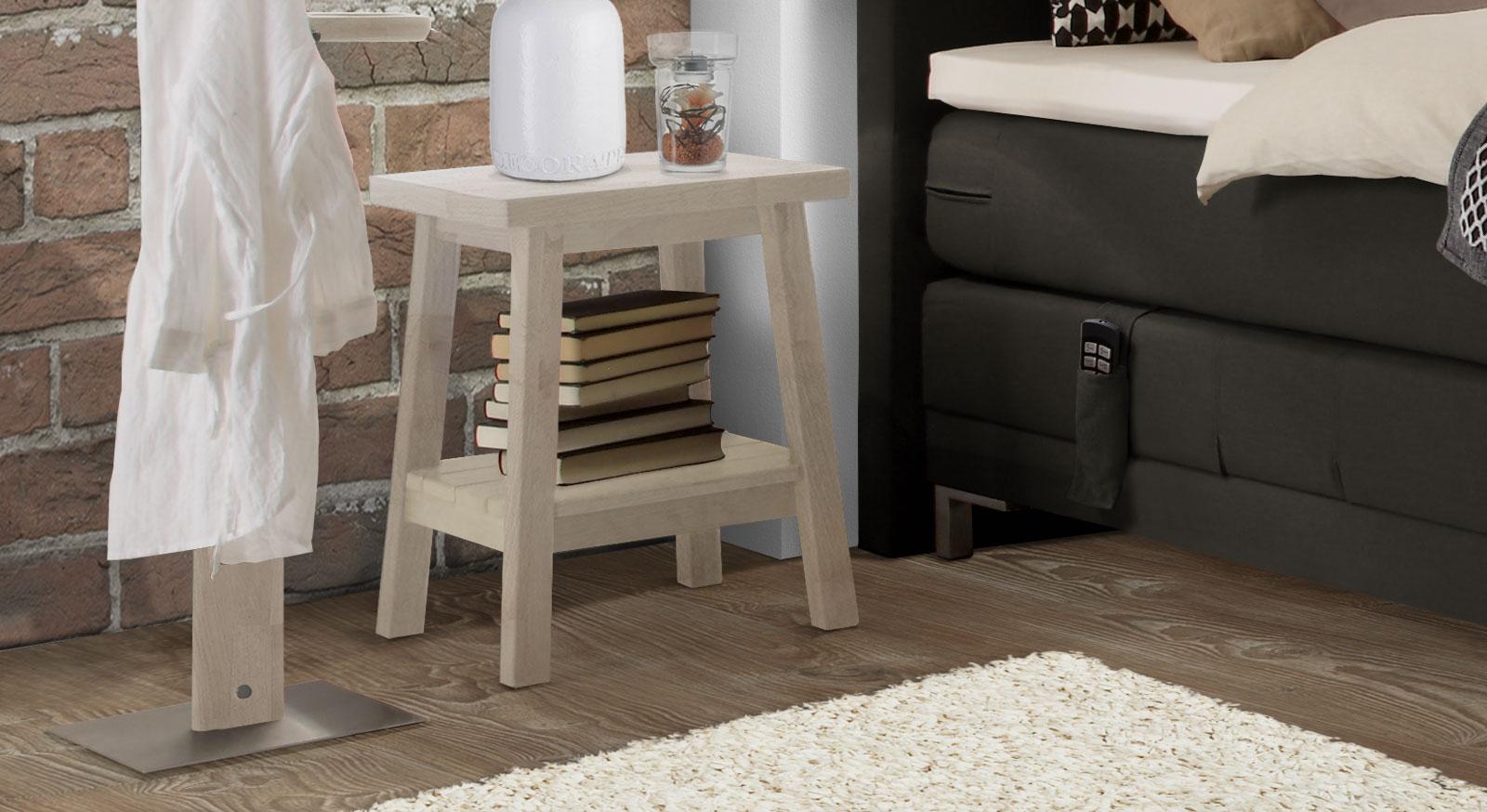 nachttisch boxspringbett buche. Black Bedroom Furniture Sets. Home Design Ideas