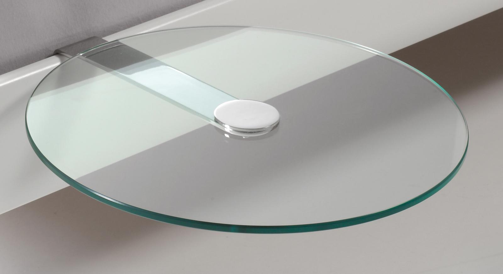 nachttisch aus rundem esg glas malaga. Black Bedroom Furniture Sets. Home Design Ideas