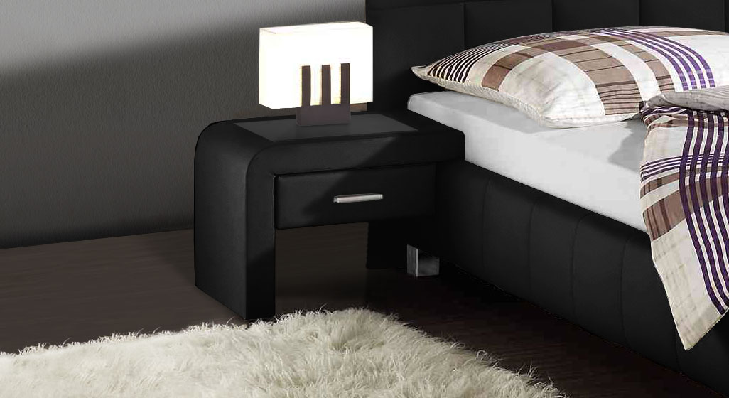 nachttisch zum einh ngen aus kunstleder las lomas. Black Bedroom Furniture Sets. Home Design Ideas