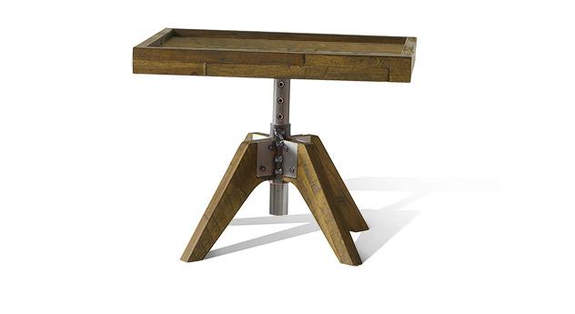 Nachttisch Molina in braunem Akazienholz