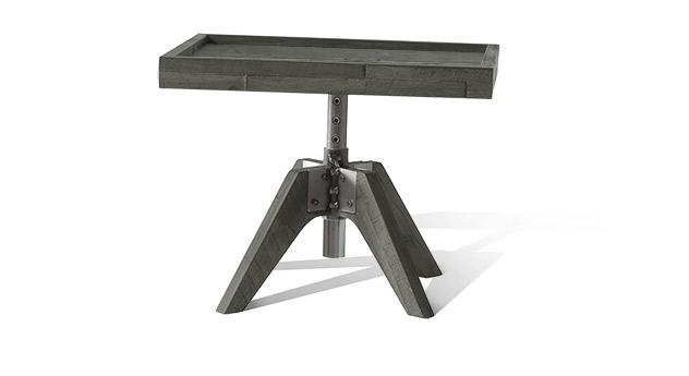 Nachttisch Molina in grauem Akazienholz