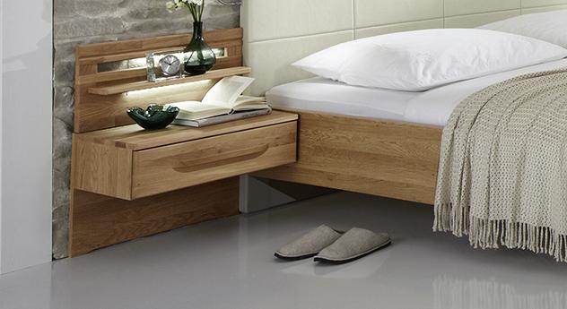 Nachttisch Morley mit 1 Schublade aus Eiche