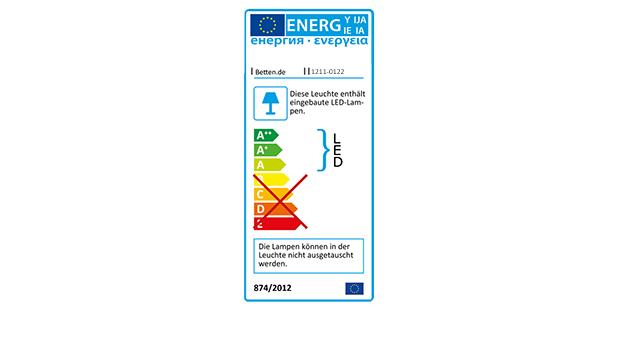 Energieverbrauchskennzeichen für Nachttisch Morley