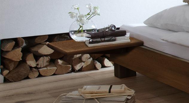 Nachttisch Pamplona in nussbaumfarbener Buche