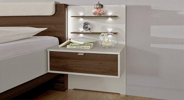 moderner schubladen nachttisch f r schweberahmenbett patiala. Black Bedroom Furniture Sets. Home Design Ideas
