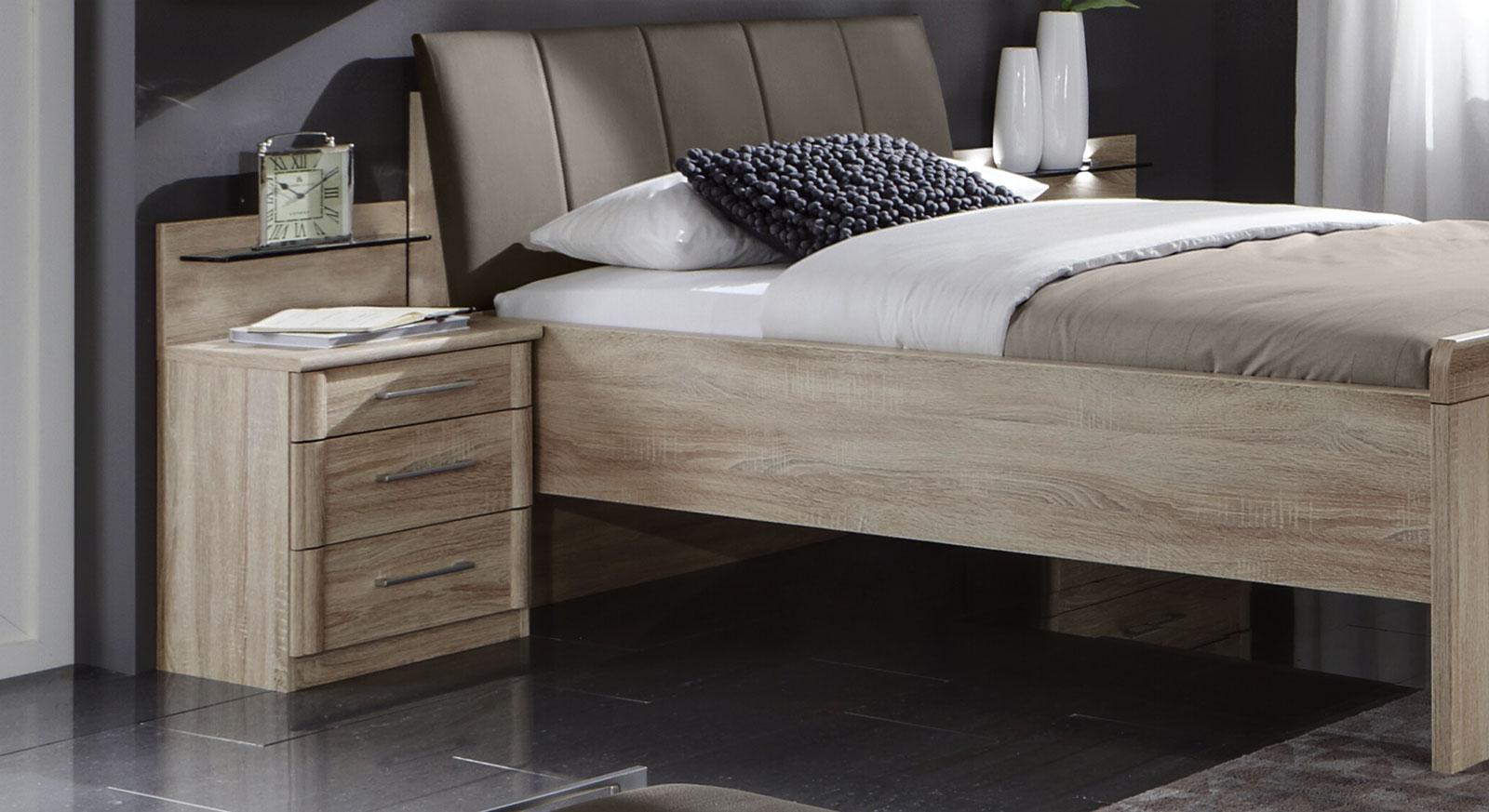 Nachttisch Runcorn aus Eiche sägerau in schmaler Ausführung