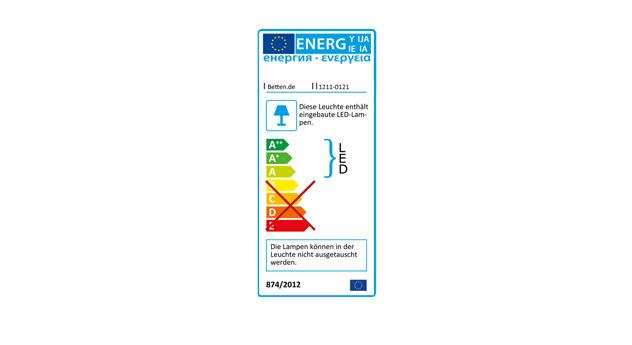 LED-Energieverbrauchskennzeichnung für den Nachttisch Salford