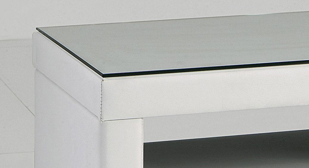 Nachttisch Sweet-Dreams mit Glasplatte auf der Oberfläche