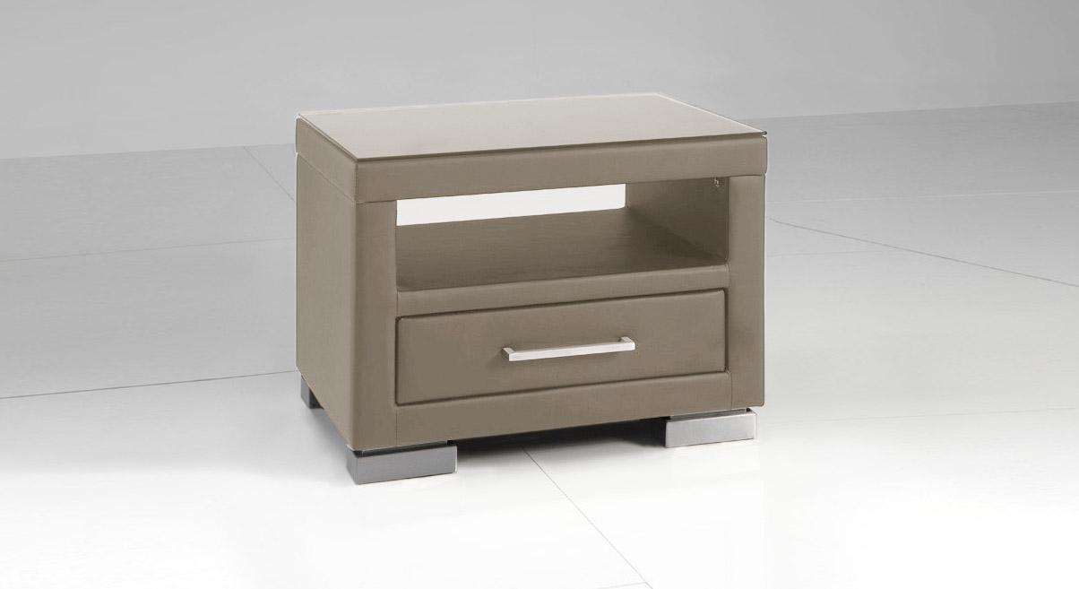 nachttisch grau good elona nachttisch grau und kupfer. Black Bedroom Furniture Sets. Home Design Ideas