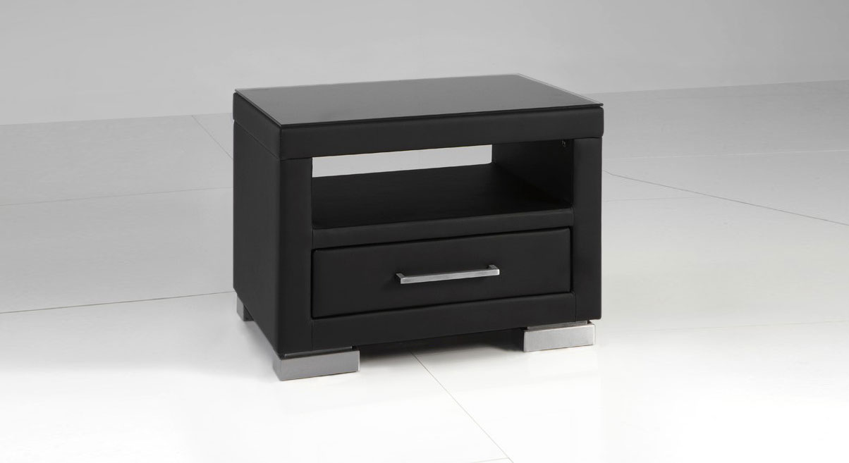 nachttisch schwarz metall free large size of aus autoteilen oslek eiche schwarz dunkelbraun. Black Bedroom Furniture Sets. Home Design Ideas