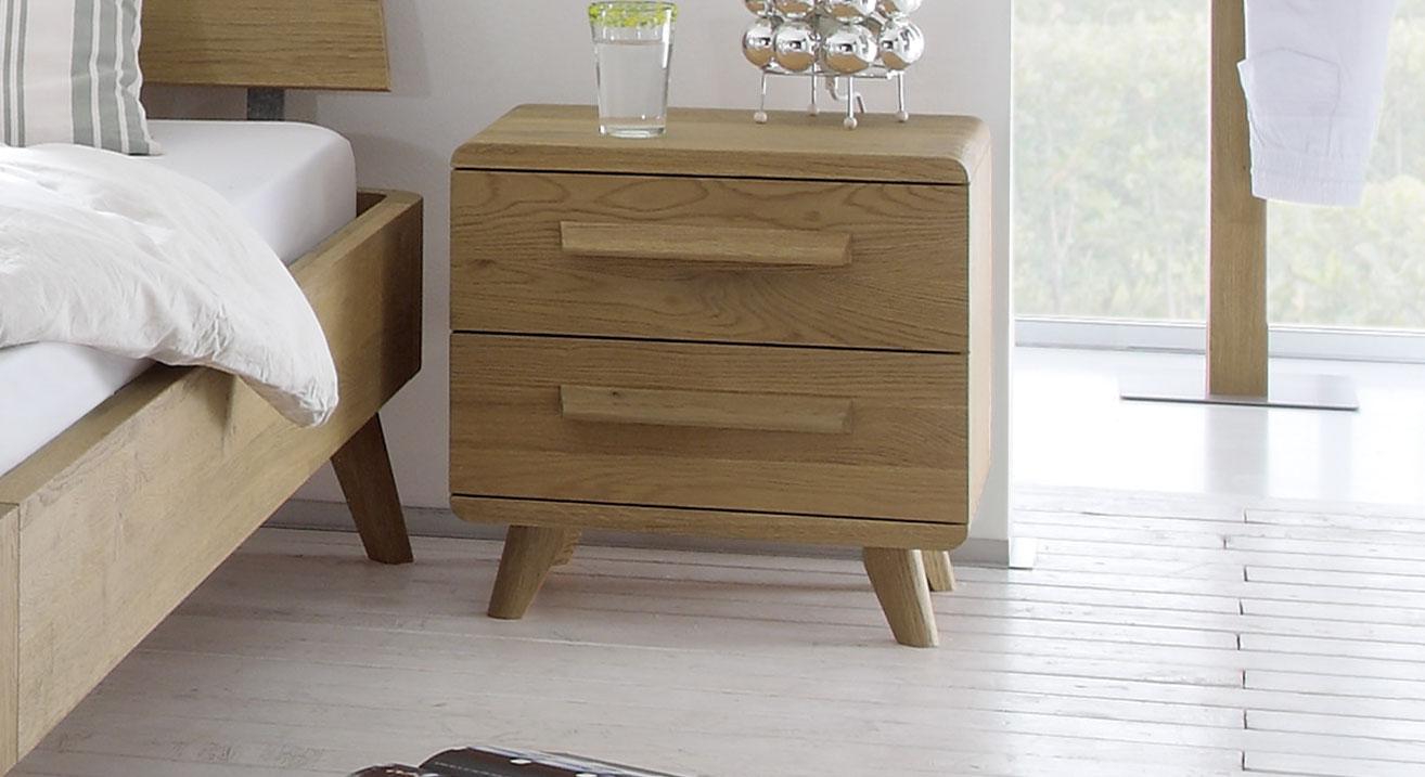 schubladen konsole in ge lter eiche mit gerundetem korpus. Black Bedroom Furniture Sets. Home Design Ideas