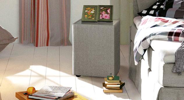 Nachttisch Tom Tailor Cushion mit beigebraunem Stoffbezug