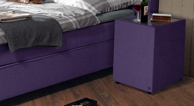 Nachttisch Tom Tailor Soft mit Stoffbezug in Violett