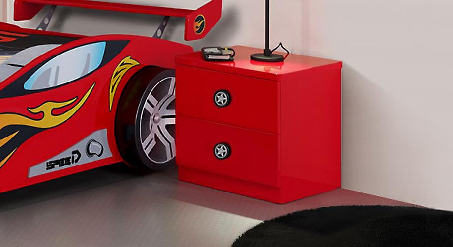 Rot lackierter Nachttisch Tuning aus MDF