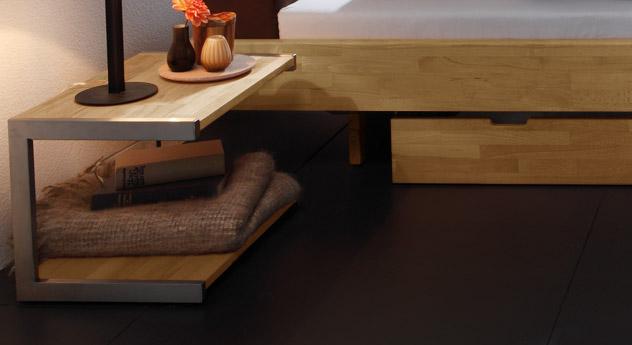 Nachttisch Vimara ist stabil und hochwertig