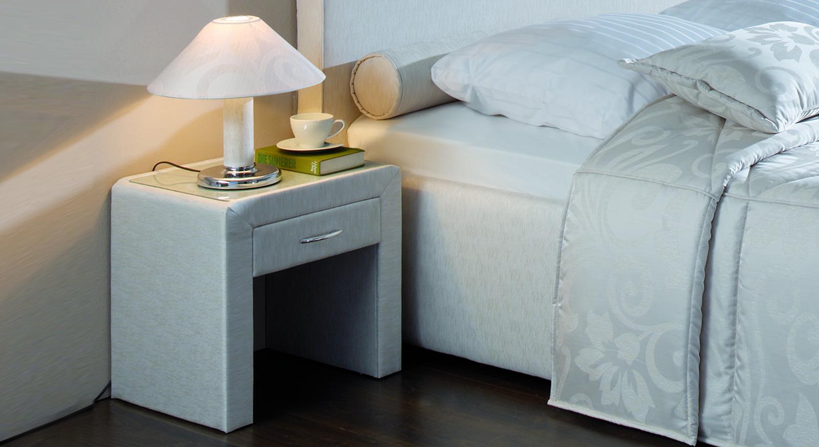 Nachttisch Viterbo Komfort Höhe Schublade