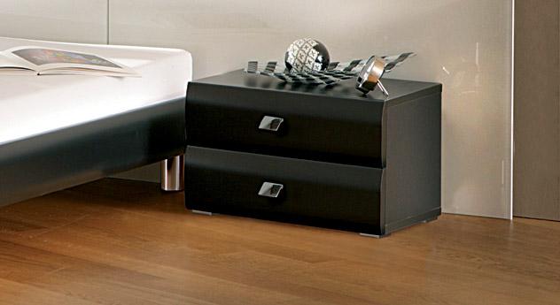 Nachttisch Rotondo mit zwei Schubladen