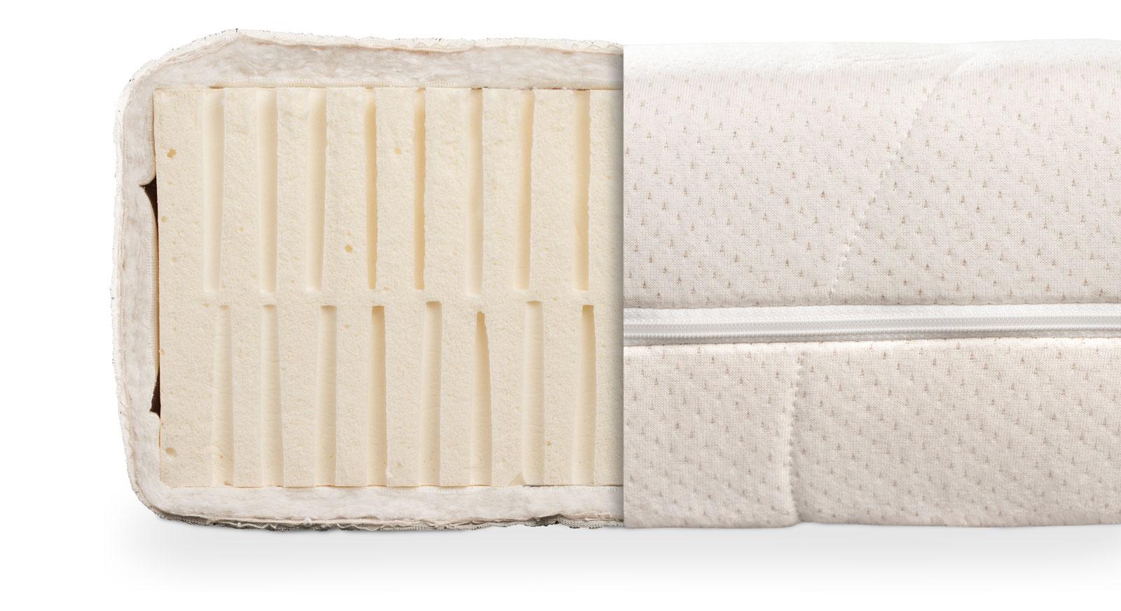 Naturlatex-Matratze orthowell bio bietet einen ergonomischen Liegekomfort