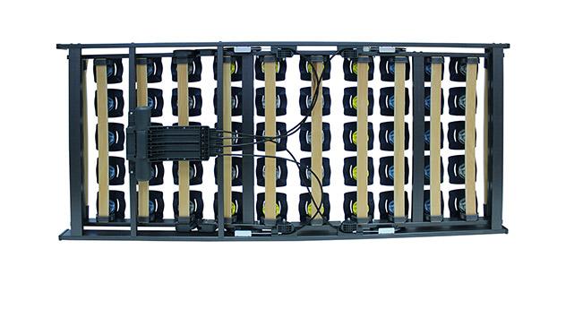 Lattenrost orthowell bestflex motor mit stabiler Unterseite