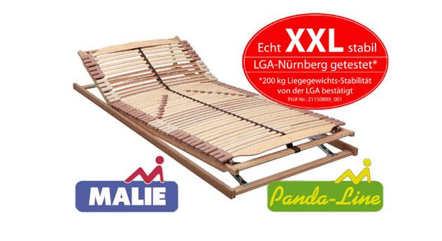 Lattenrost Panda XXL Superflex 42 Federleisten