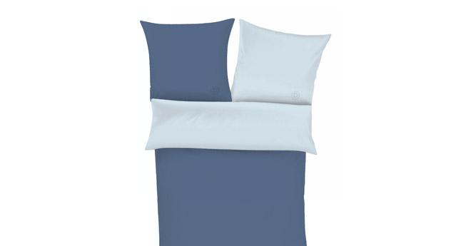 blaue perkal uni bettw sche bugatti mit rei verschluss. Black Bedroom Furniture Sets. Home Design Ideas