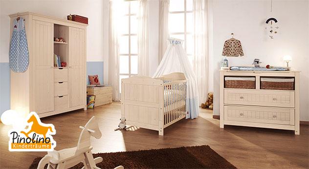 Pinolino Babyzimmer Finja aus cremeweißer Fichte