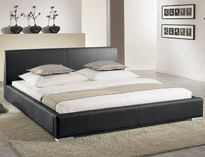 polsterbett firenze mit leder bezug hochwertig verarbeitet. Black Bedroom Furniture Sets. Home Design Ideas