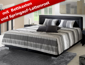 lederbetten mit bettkasten betten aus leder g nstig. Black Bedroom Furniture Sets. Home Design Ideas