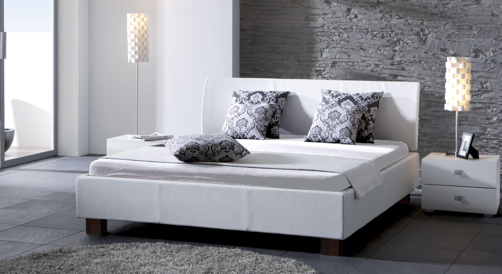Bett Amore Kunstleder Weiß